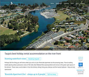 Riverside Apartment, accommodation in Taupo, New Zealand