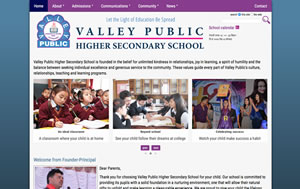 Valley Public School, Nepal, web project by Piccante Web Design